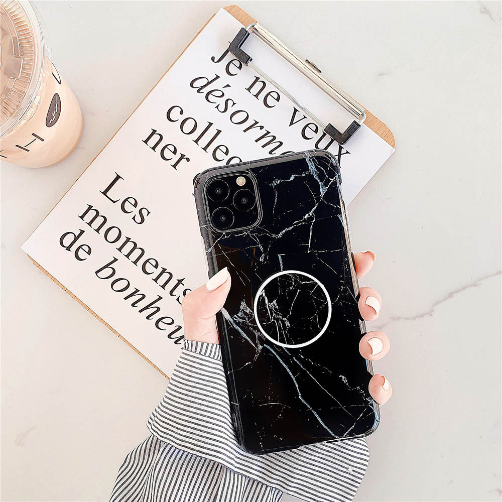 Luxury Marble Stand Phone Back Cover Shell For iPhone 11 Pro X XR XS Max 7 8 6 6S 24