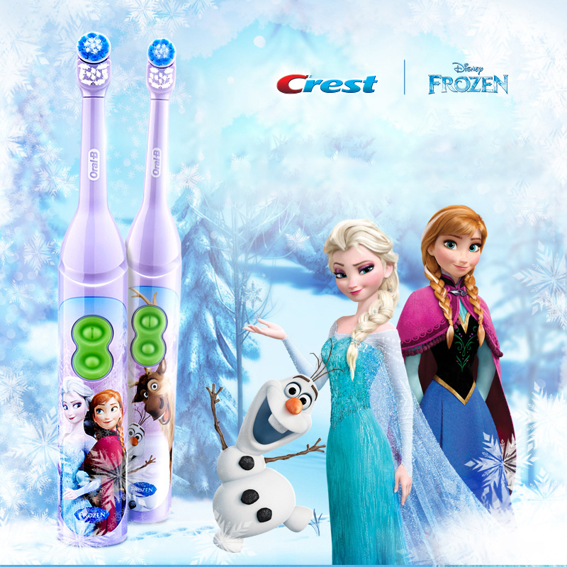 100% Original OralB  Toothbrush For Children  Oral Health Soft Tooth Brush For Kids Battery Powered