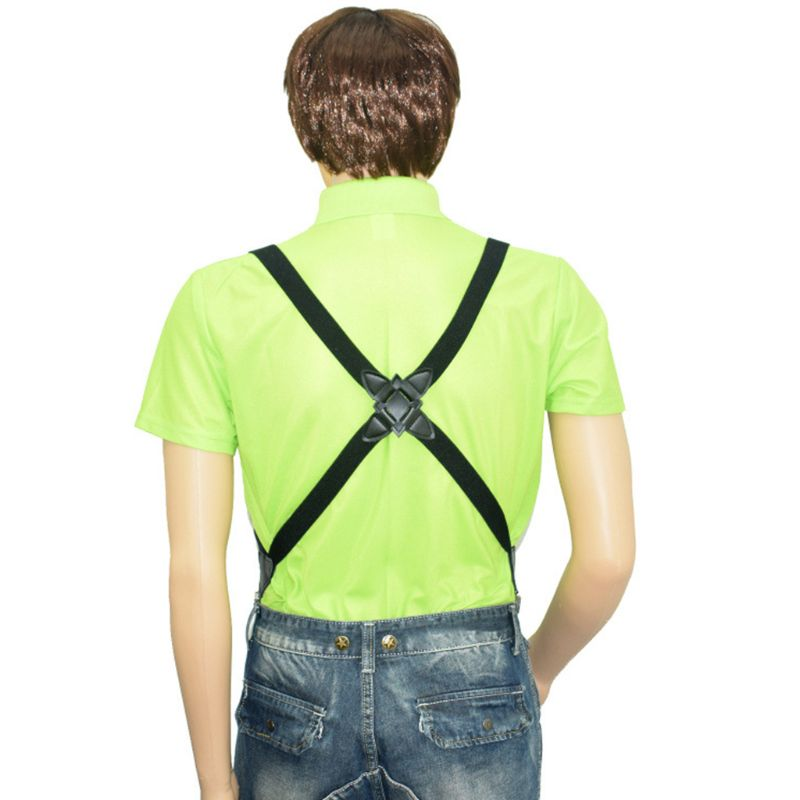 Adjustable Adult Suspend Belt Unisex Men Women Clip-on Braces Clip Trousers Pant