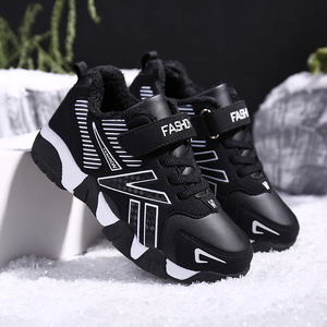 Winter Kids Sneakers Boys Shoes Girls Sneakers Children Casual Shoes Boys Sneakers Plush Lining Warm Anti-slippery Leather 2020