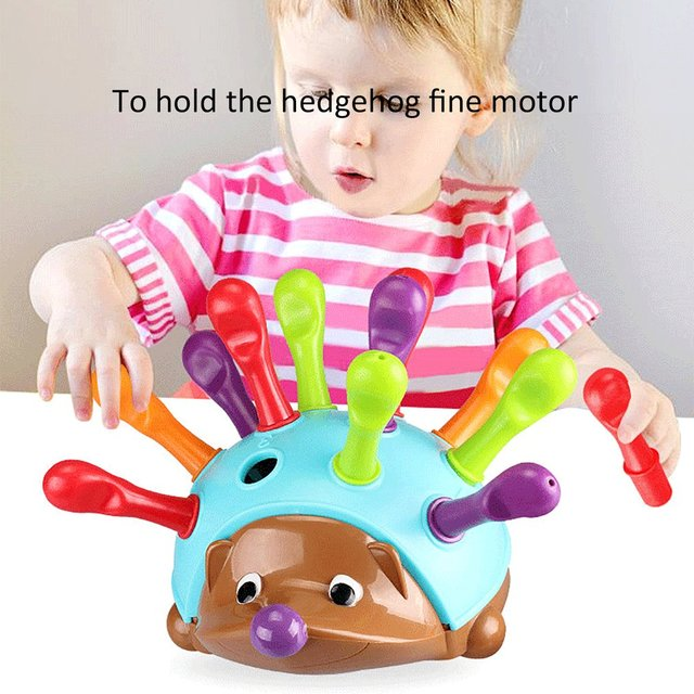 Training Focused on Children's Fine Motor Hand-Eye Coordination Fight Inserted Hedgehog Baby Educational Toy 2