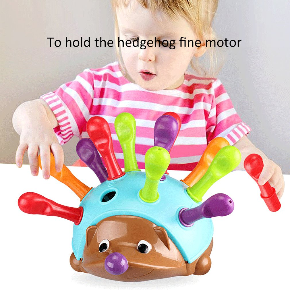 Kids Training Focused On Children's Fine Motor Hand-Eye Coordination Fight Inserted Hedgehog Baby Montessori Educational Toy