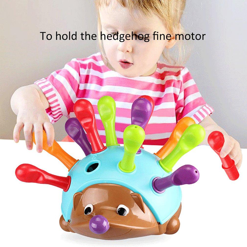 Kids Training Focused On Children's Fine Motor Hand-Eye Coordination Fight Inserted Hedgehog Baby Montessori Educational Toy