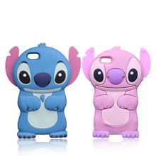 Lovely Cartoon 3D Stitch Case for iPhone