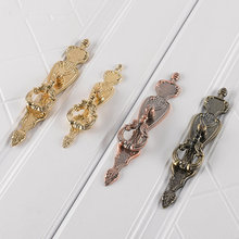 1pc Gold Red/antique Bronze Drawer Pull Drop Back Plate Cabinet Door Dresser Handles Chic Kitchen Rustic French Cupboard