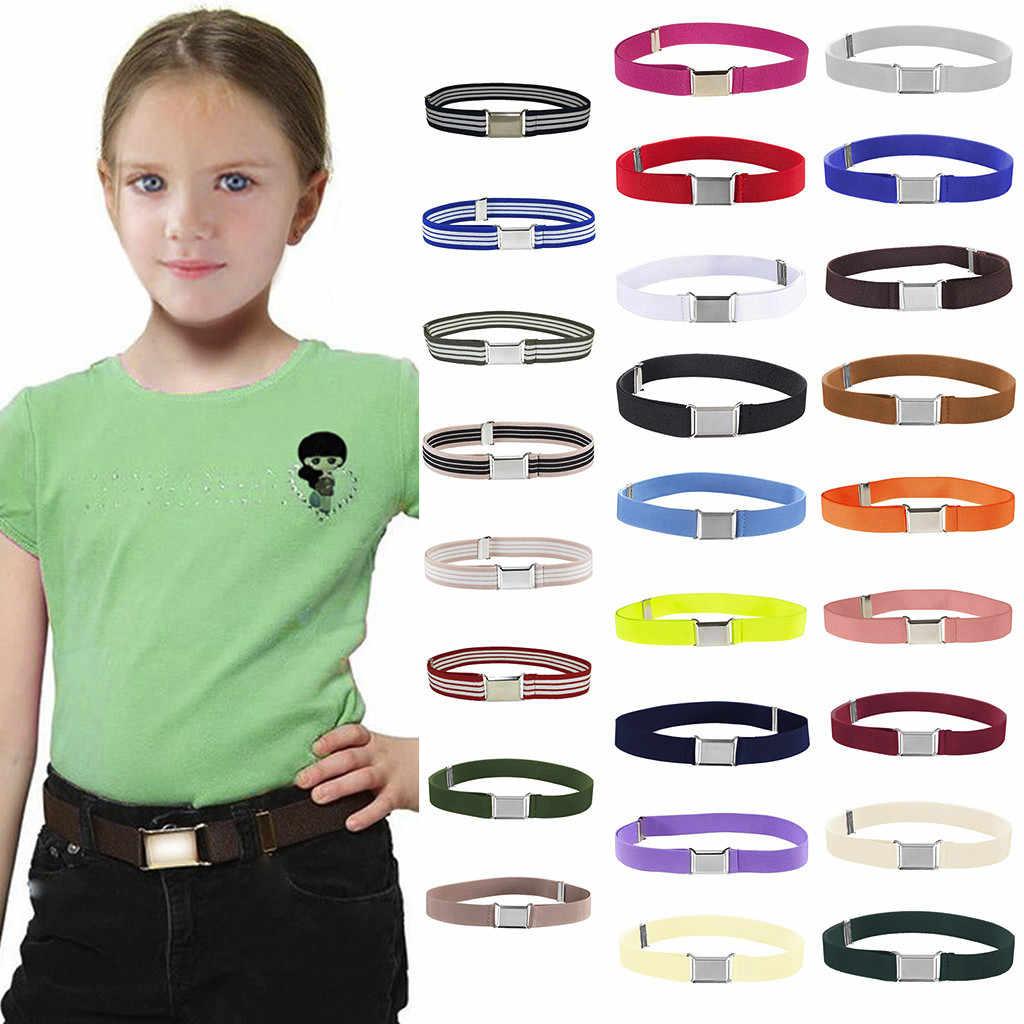 ปรับ Unisex ยืดเข็มขัดเงินสแควร์เข็มขัดผู้หญิงหัวเข็มขัดเด็กยืดหยุ่น cinturones Para mujer