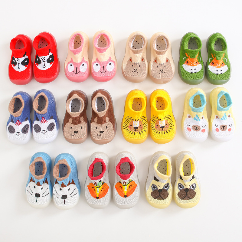 Sunnykucy 0-4 Year Old Baby Indoor Toddler Shoes Children Socks Shoes Non-slip Soft Bottom Cartoon Pattern Factory Direct Sales