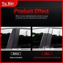 цена на 10pcs Car Door Window Pillar Posts Piano Trim Carbon Fiber Cover Fit For Mazda CX-5 CX5 2011 2012 2013 2014 2015 2016 2017 2018