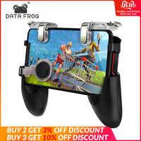 Daten Frosch Für Pubg Spiel Gamepad Für Handy Spiel Controller l1r1 Shooter Trigger Feuer Taste Für IPhone Für Freies feuer