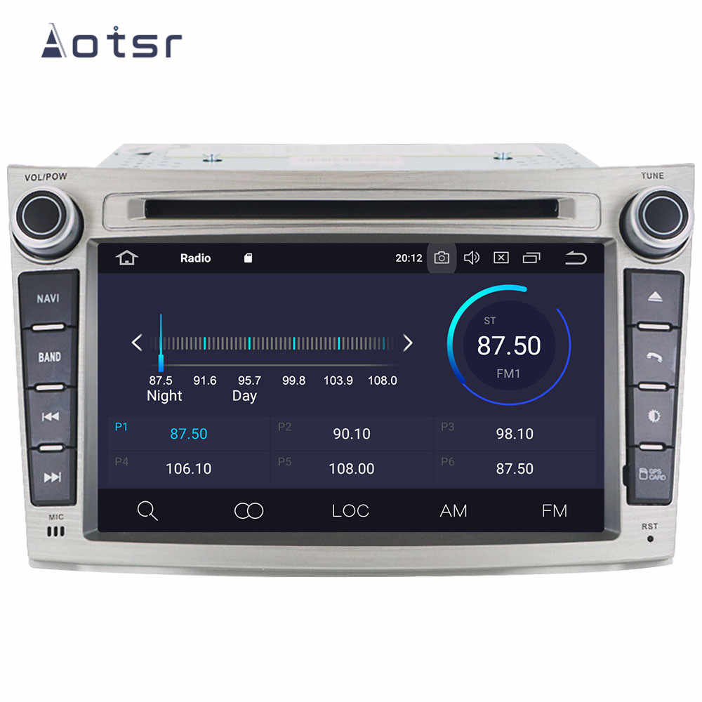 7 inç Android 9.0 IPS GPS navigasyon araba radyo çalar Subaru Legacy Outback için 2009 + multimedya oynatıcı kafa ünitesi teyp