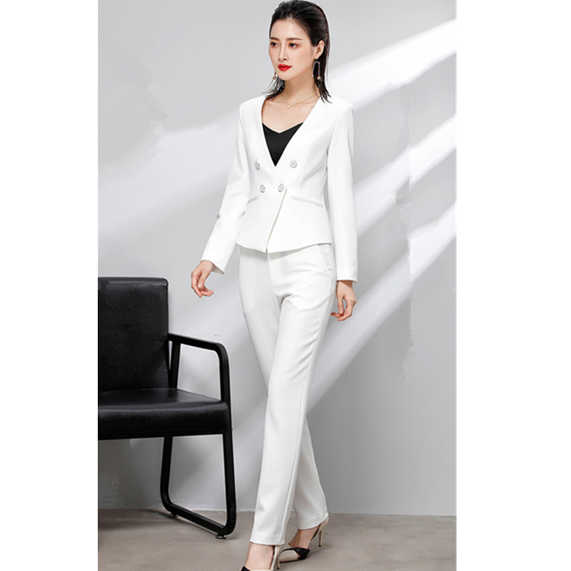 14.1 2,,V,99,Women`s suit women`s double-breasted suit two-piece suit (jacket + pants) women`s business work professional wear custom made