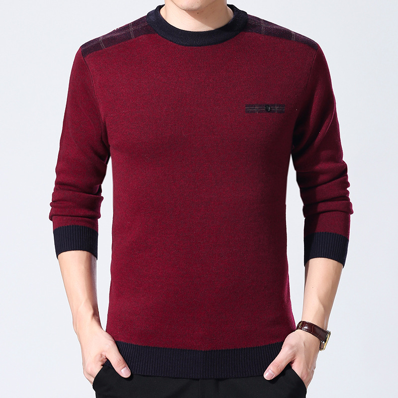 YUSHU Cashmere Wool Sweater Men 2019 New Autumn O-Neck Pullovers High Quality Casual Knitted Sweater Tops Men XXXL
