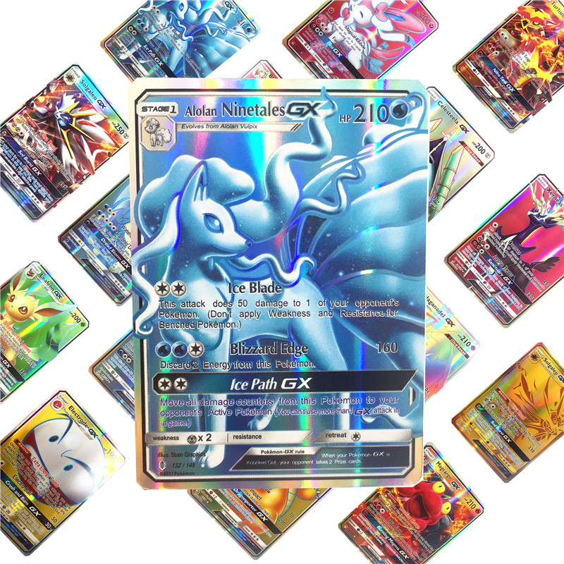 Kids Toys 10-324 Game Collection Trading GX  Pokemones    Cards For Funs Children English Language Toy