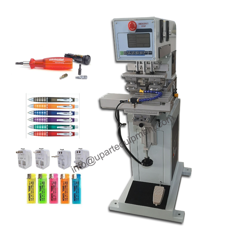 automatic  open ink logo pad printing machine 2 color