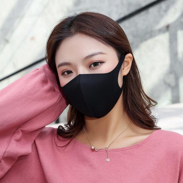 3PCS Reusable Cotton Mask for Adult Kids Durable Breathable Recycle Masks Washable Anti Haze Dust Unisex Motorcycle Face Mask 4