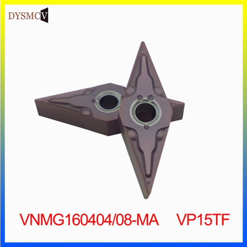 10pcs Carbide Insert VNMG160408 VNMG160404 UE6020/VP15TF/US735 External Metal Turning Tool VNMG 160408 CNC Machine Turning Tool