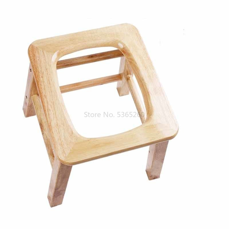 Solid Wood Portable Sit Toilet Chair A Disability The Elderly Shit Implement Pregnant Woman Squatting Toilets Change Stool Old