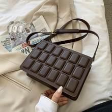 Cube design padrão de chocolate saco de caixa feminina de luxo famosa marca pequena crossbody saco 2021 moda couro do plutônio sacos de ombro