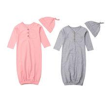 PUDCOCO новорожденный младенец мальчик девочка мягкие пеленальные ползунки спальный мешок ночная рубашка-накидка
