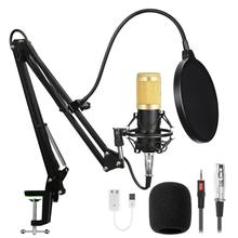 Bm 800 Kit Wired Condenser Microphone With Sound Card For Computer Studio Recording  Radio Live Broadcast  Karaoke Mikrofon bm 800 studio condenser microphone v8 audio usb headset microphone smartphone sound card e300 wired for computer