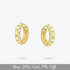 Image 2 - ENFASHION boucles doreilles pyramides, Punk, couleur or, petits cercles, bijoux à la mode, E191102, 2020