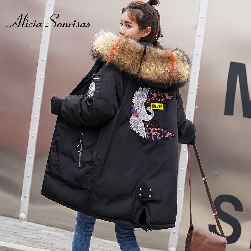 Plus Size Winter Jacket Women Hooded Warm Jackets Coat Female Big Fur Collar Thick Outwear Winter Coat Women Ladies Long Parkas