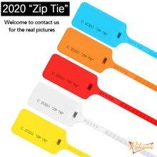 6 pçs novo 2013 2017 2018 2020 zip tie plástico descartável tag fora das sapatilhas sapatos decorações branco vermelho creme bege selos de segurança