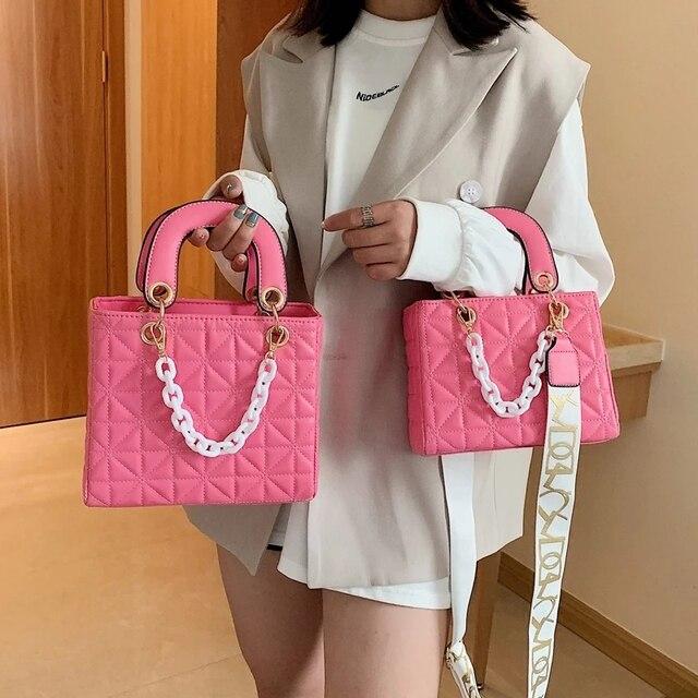 Flap Crossbody Bag For Women 2021 Fashion Designer Women Shoulder Bag Handbag Purse Women Messenger Bags Vintage Pu Ladies 1