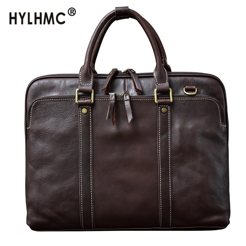 Men's Handbags Laptop Bag Business High-end Briefcase Male Schoolbag 15.6