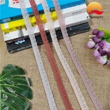 LS1096*1.5 Tight edge white elastic lace border is used for DIY embroidery of wedding decoration(China)