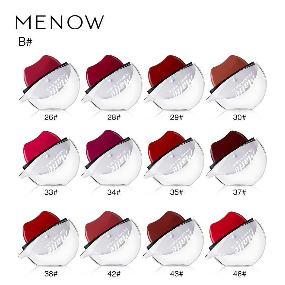 12 colores Sexy rojo labio perezoso lápiz labial impermeable mate lápiz labial de larga duración maquillaje brillo de labios desnudo maquillaje