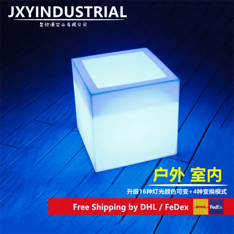 JXYINDUSTRIAL Square 40*40*40cm /Round D40cm*H40cm Led Ice Buckets Decoration Colors Changeable Freeshipping