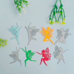 4 Angel Girl Angels decorate metal cutting moulds, DIY scrapbooks, photo albums, relief cards, handicraft moulds.