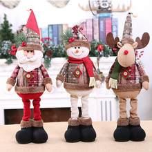 QIFU-adornos navideños de dibujos animados para el hogar, adornos navideños para el hogar, regalo de Navidad 2020, Navidad, decoración de Año Nuevo 2021