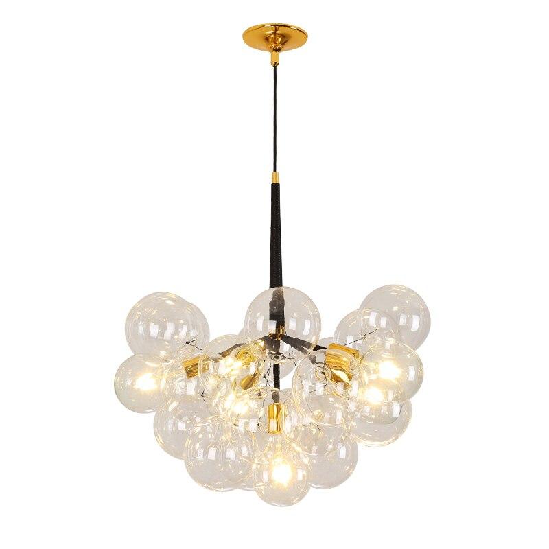 Postmodern boule de verre lustre nordique design créatif restaurant magasin de vêtements boutique décoration lampes verre pour lustres
