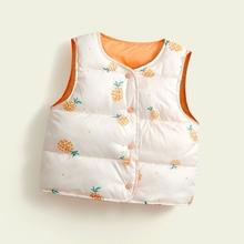 COOTELILI dziecięce kamizelki dziecięce ciepłe kurtki odzież wierzchnia dziewczęca dla niemowląt płaszcze dziecięce kamizelki chłopięce kurtki jesienno-zimowa zagęścić odzież wierzchnia tanie tanio COTTON Unisex Z kapturem Moda Kurtki płaszcze coat Pasuje prawda na wymiar weź swój normalny rozmiar thicken Suknem