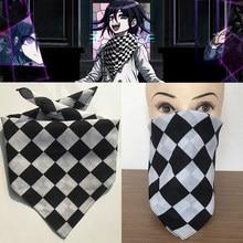Anime danganronpa v3 ouma kokichi lenço quadrado envoltório cosplay traje acessórios 55x55cm artesanal rara