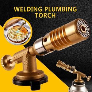 New Welding Torch High Temperature Brass Mapp Gas Turbo Soldering Brazing Propane Torch Solder Welding Plumbing For Welding J1M5