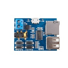 Mp3 lossless decoder board comes with amplifier mp3 decoder TF card U disk decoder player(China)