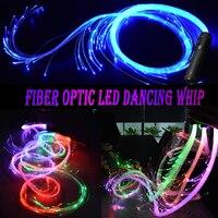 LED Fiber Optic Whip Led Glow Gloves Multicolor Dance Whip Light Up Rave Toy Flashlight Dance Festival Glow Stick