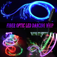LED Fiber Optic Whip Led Glow Gloves Multicolor Dance Whip Light Up Rave Toy Flashlight Dance Festival Glow Stick