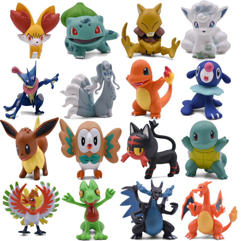 4-9CM Eevee Charmander Mega Charizard X&Y Bulbasaur Alola Vulpix Ninetales Greninja Squirtle Abra Ho-Oh Anime Action Toy Figures