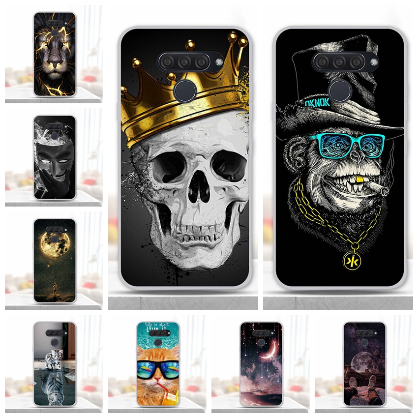 sFor LG K50 Case K 50 Soft Silicone TPU Back Cover For LG Q60 Phone Case Covers For LGK50 Q 60 Coque Animal 6.26 Inch Protective