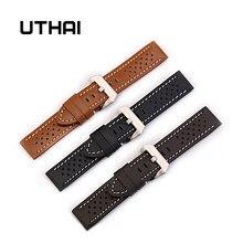 Uthai z14 relógio pulseira cinto de negócios men pulseiras couro genuíno pulseira 20mm 20mm 22mm 26mm relógio acessórios