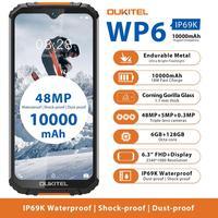 هاتف ذكي OUKITEL WP6 IP68 متين مقاوم للماء MT6771T ثماني النواة 9 فولت/2 أمبير بطارية 10000 مللي أمبير كاميرا 48 ميجا بايت ثلاثية 6 جيجا بايت 128 جيجا بايت هاتف ...