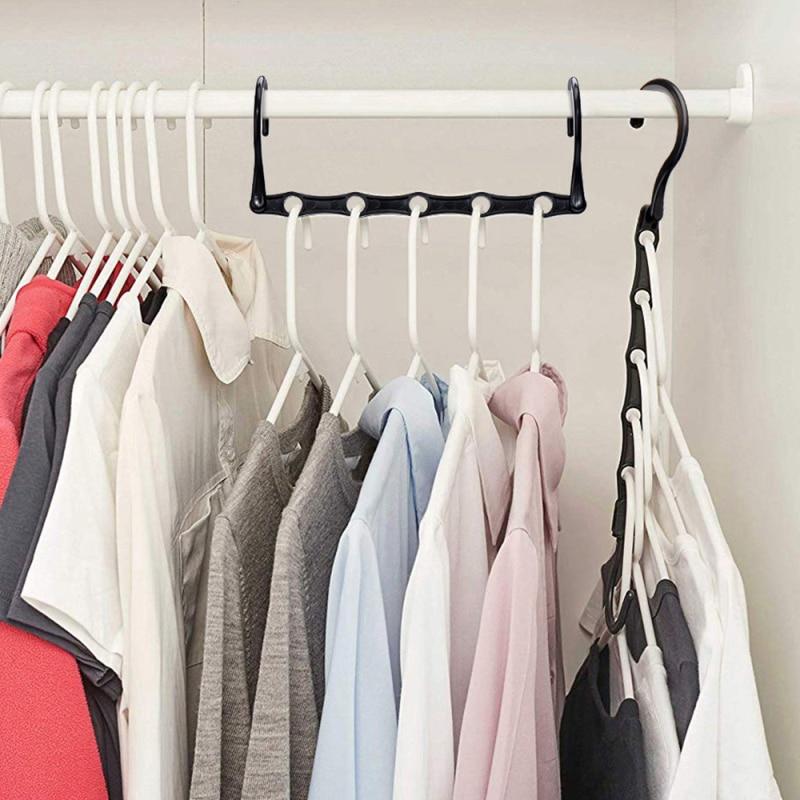 Black Plastic Magic Hangers Closet Space Saving Hanger Clothes Hanger Closet Organizer