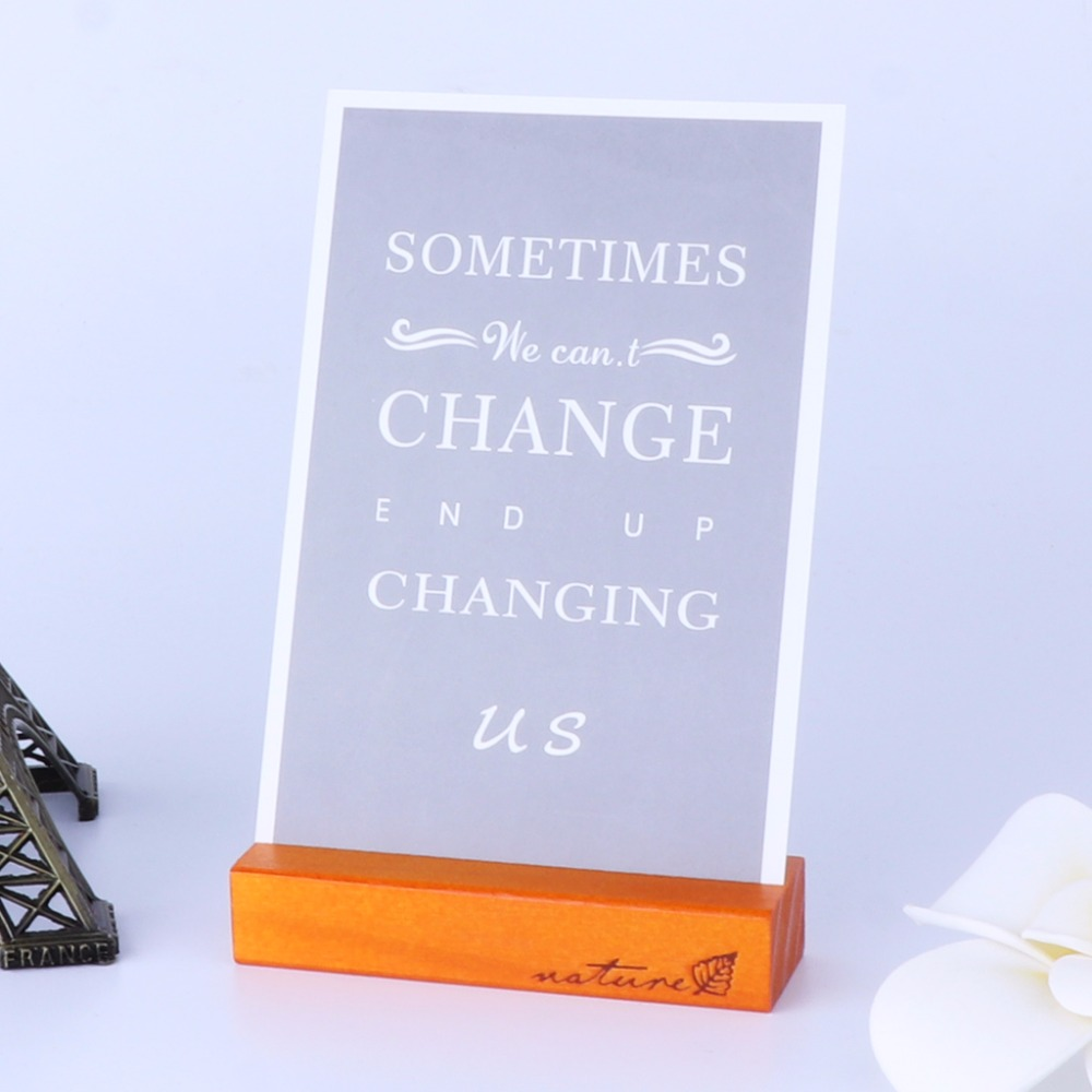 Natural Wood Block Clips Paper Photo Picture Card Holder Clamp Stand Table Decor Au13 19 Droship