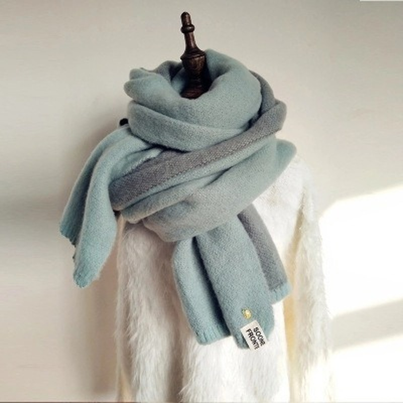 Nail Buckle Imitation Cashmere Long Scarf  Double-sided Small Pineapple Winter Scarf Woolen Yarn Thicken Korean Style S01