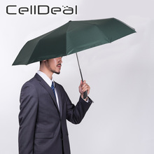 Foldable Umbrella Parasol Compact Travel Rain Wind-Resistant Black Large Women 10 Business