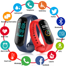 Smart Wristband M4 health bracelet Life Waterproof Heart Rate Monitor Watch blood pressure watch couple Sport Fitness Band